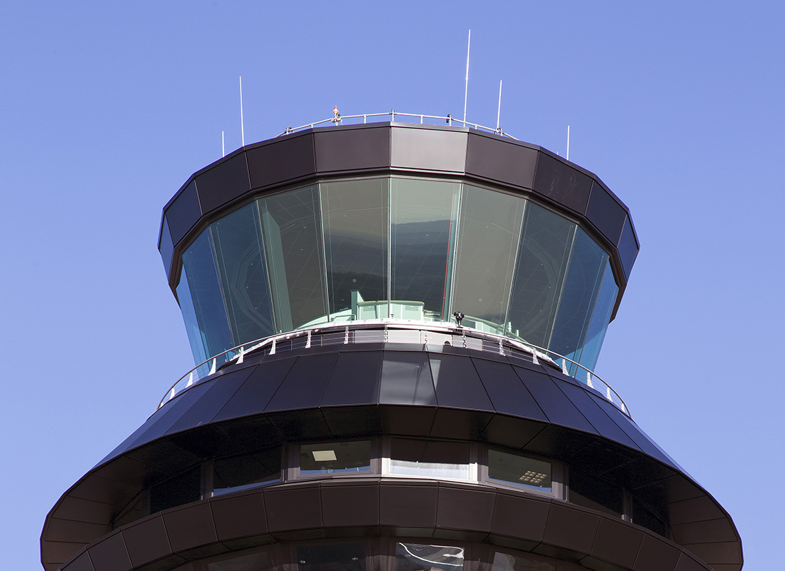 Close-up view of the Tex ATC control room at Manchester UK
