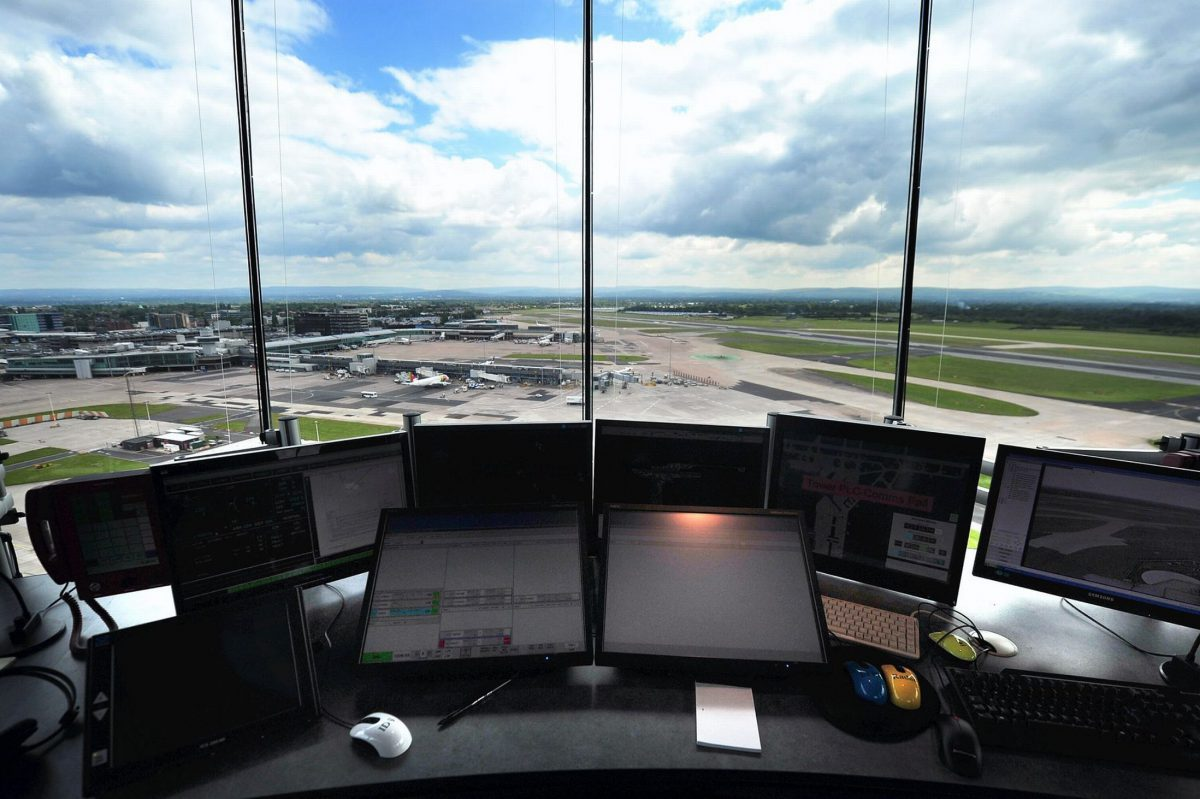 Stunning views of Manchester airport from within the Tex ATC control room