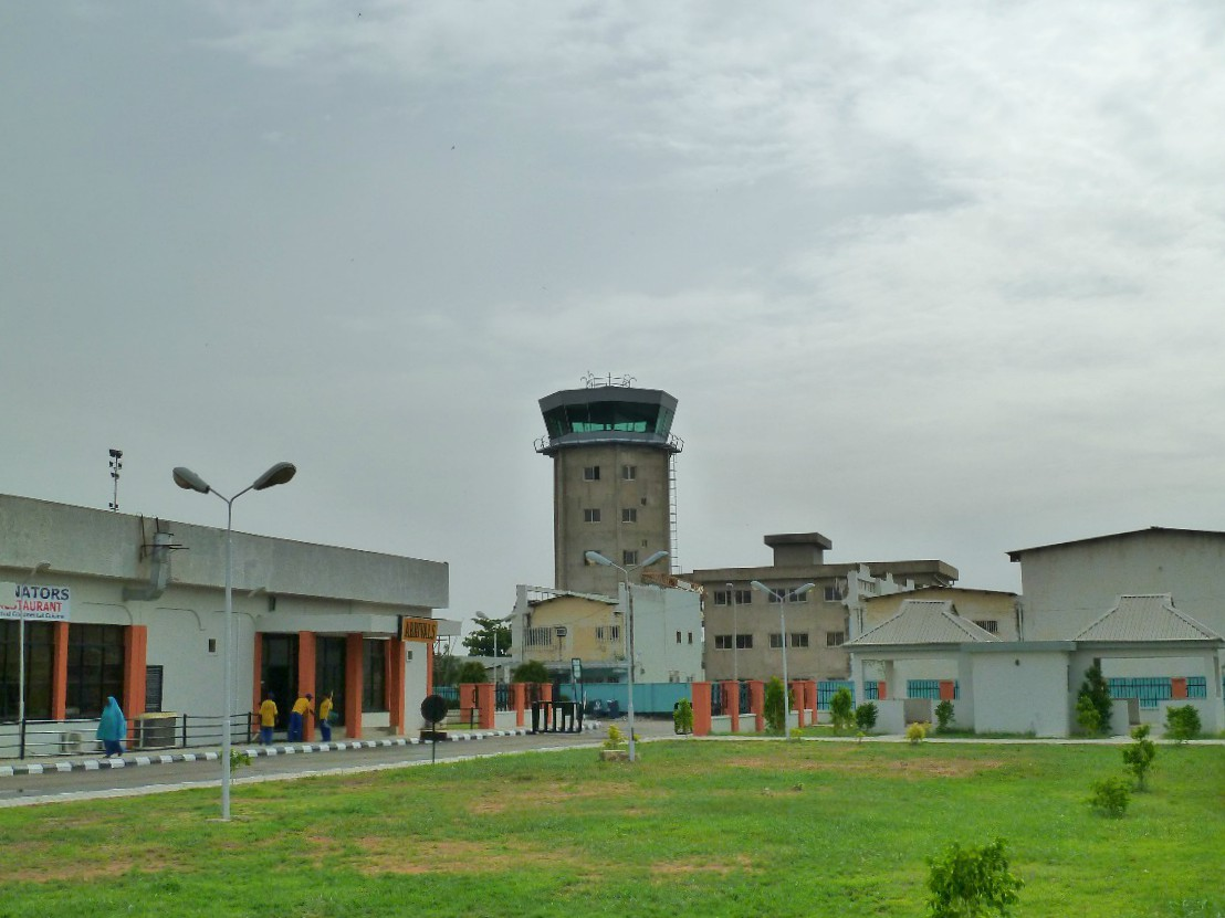 The completed Tex ATC air traffic control tower at Mallam Aminu Kano International Airport, Nigeria.