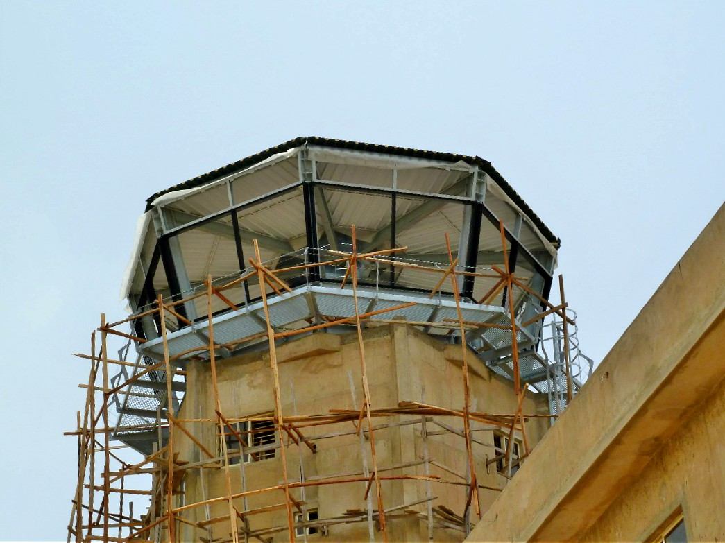 The construction of the Tex ATC air traffic control tower in Kano