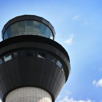 Manchester;s air traffic control tower, glass supplied by Tex ATC