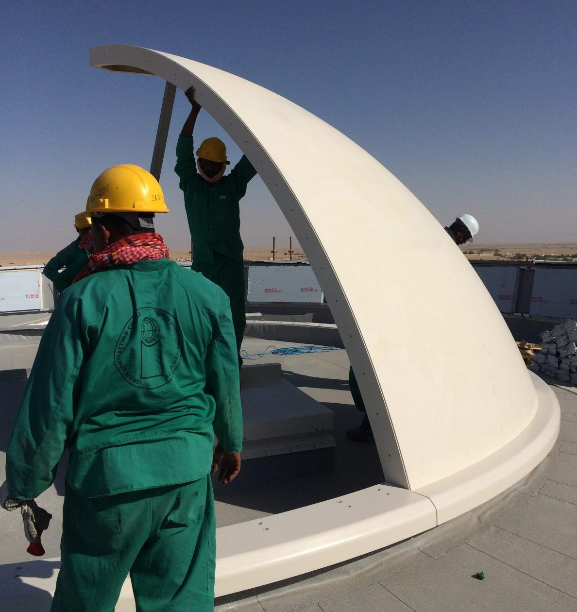 Tex Atc Air Traffic Control Room Roof Dome Installation