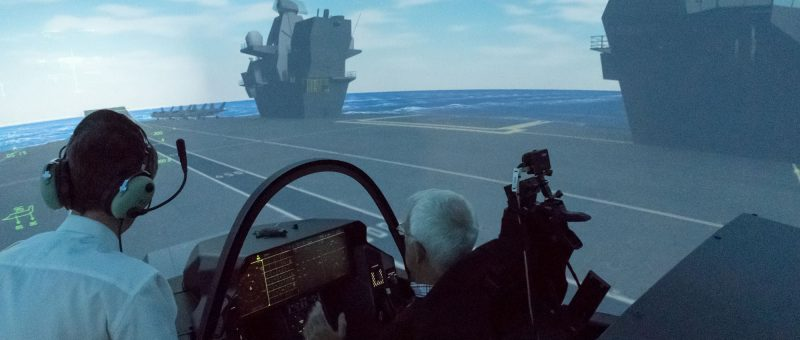 "Tex Special Projects designed, manufactured and integrated the innovative HMS Queen Elizabeth ""FLYCO"" visual control room and installed the navigation windows."