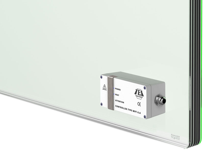 Control room glazing electromagnetic shielding
